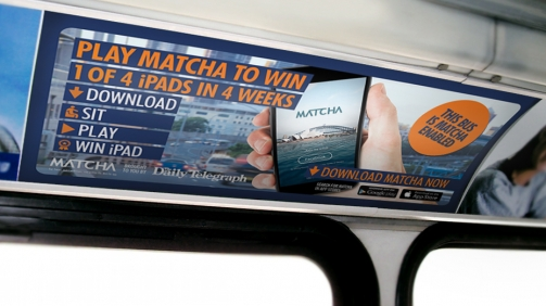 APN Outdoor + NEWS Corp interior Bus Advertising Campaign