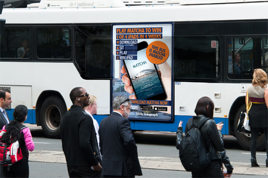 APN Outdoor + NEWS Corp exterior Bus Advertising Campaign