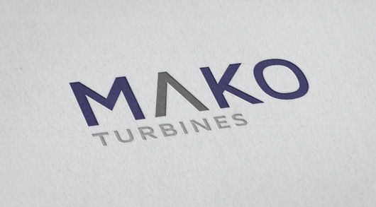 Mako Turbines logo design