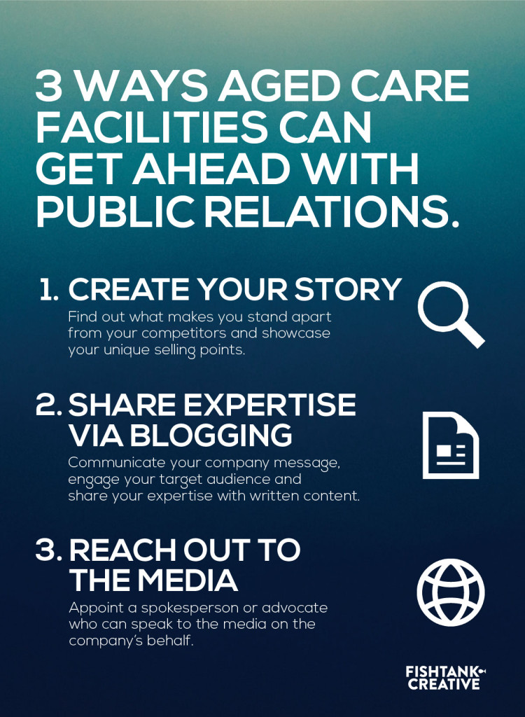 Aged Care marketing in 2018 public relations infographic